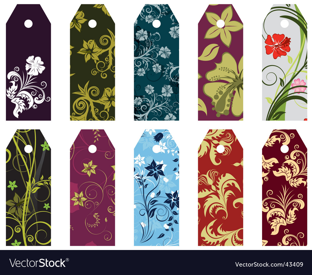 Floral bookmark vector | Price: 1 Credit (USD $1)