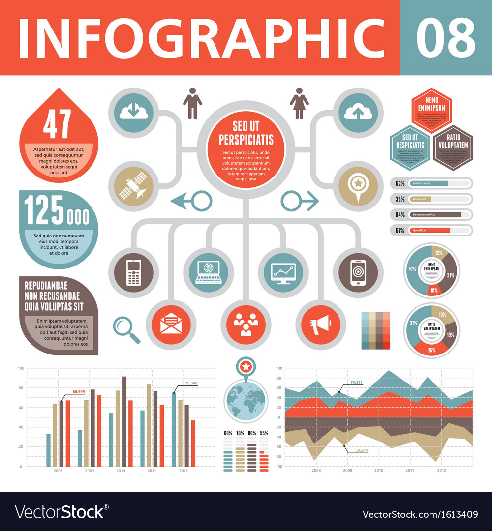Infographic elements 08 vector | Price: 1 Credit (USD $1)