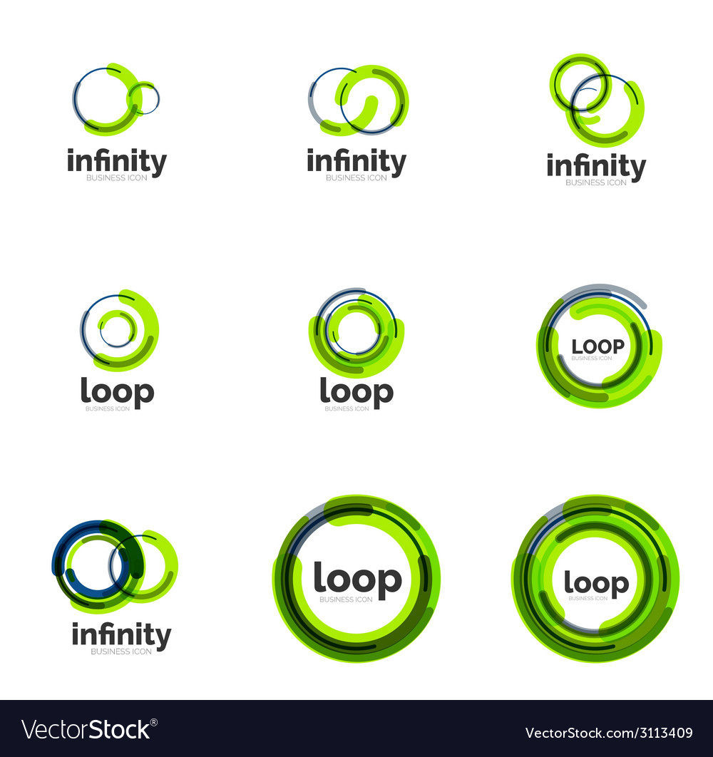 Loop infinity business icon set vector | Price: 1 Credit (USD $1)