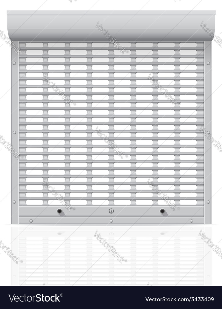 Metal perforated rolling shutters 01 vector | Price: 1 Credit (USD $1)