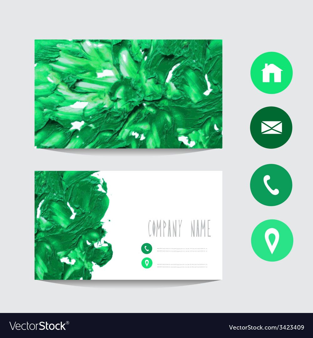 Oil painted business card vector | Price: 1 Credit (USD $1)
