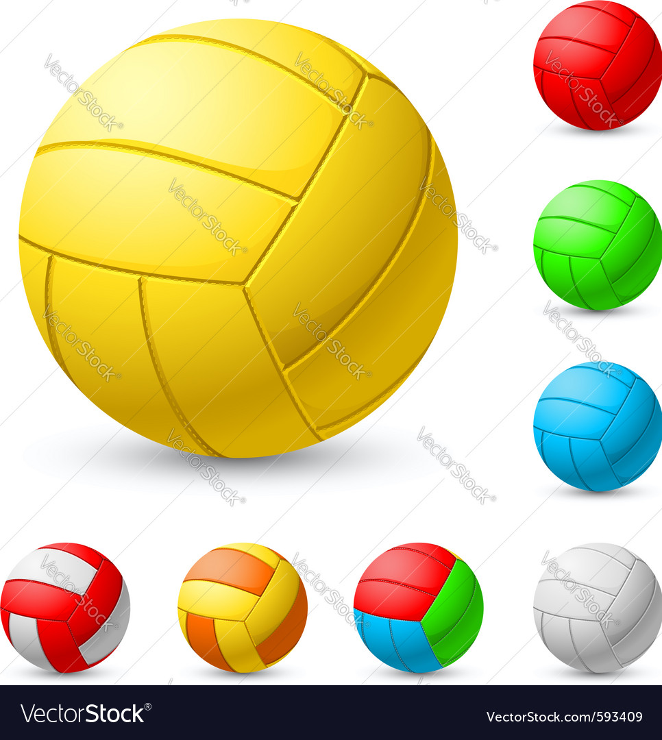 Realistic volleyball vector | Price: 1 Credit (USD $1)