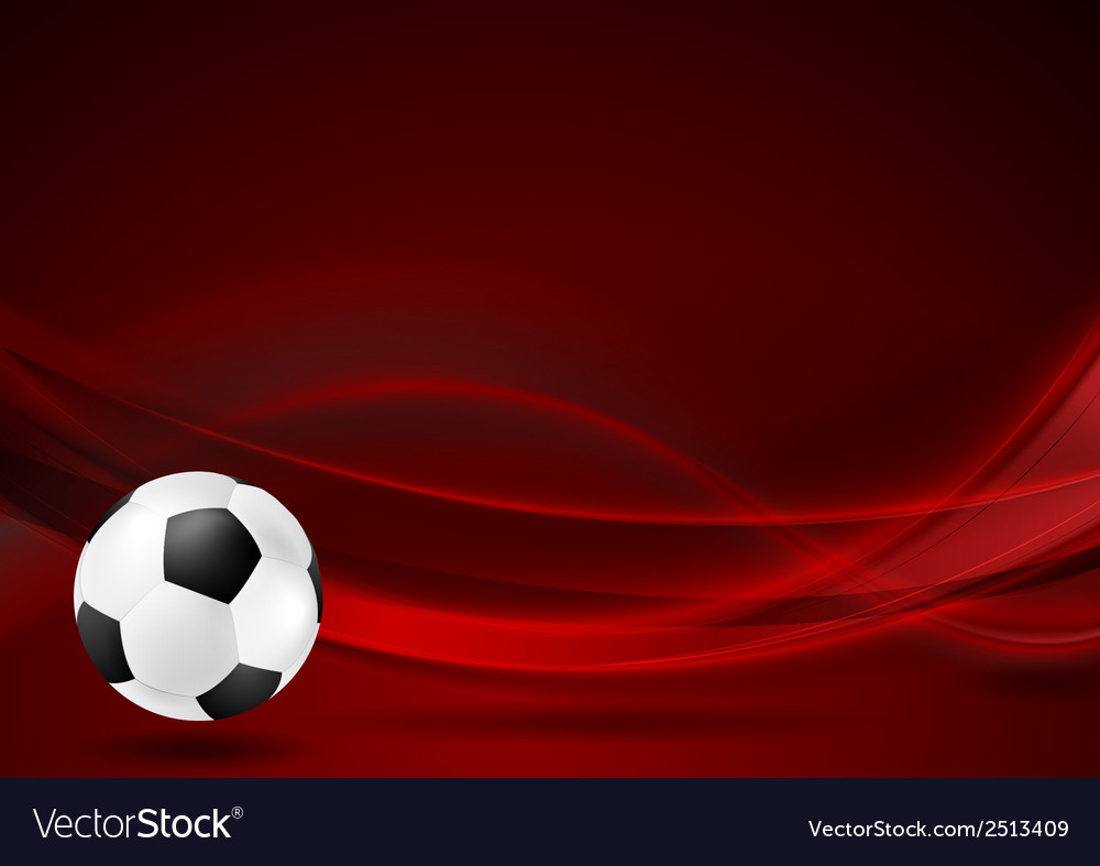 Red wavy football background vector | Price: 1 Credit (USD $1)
