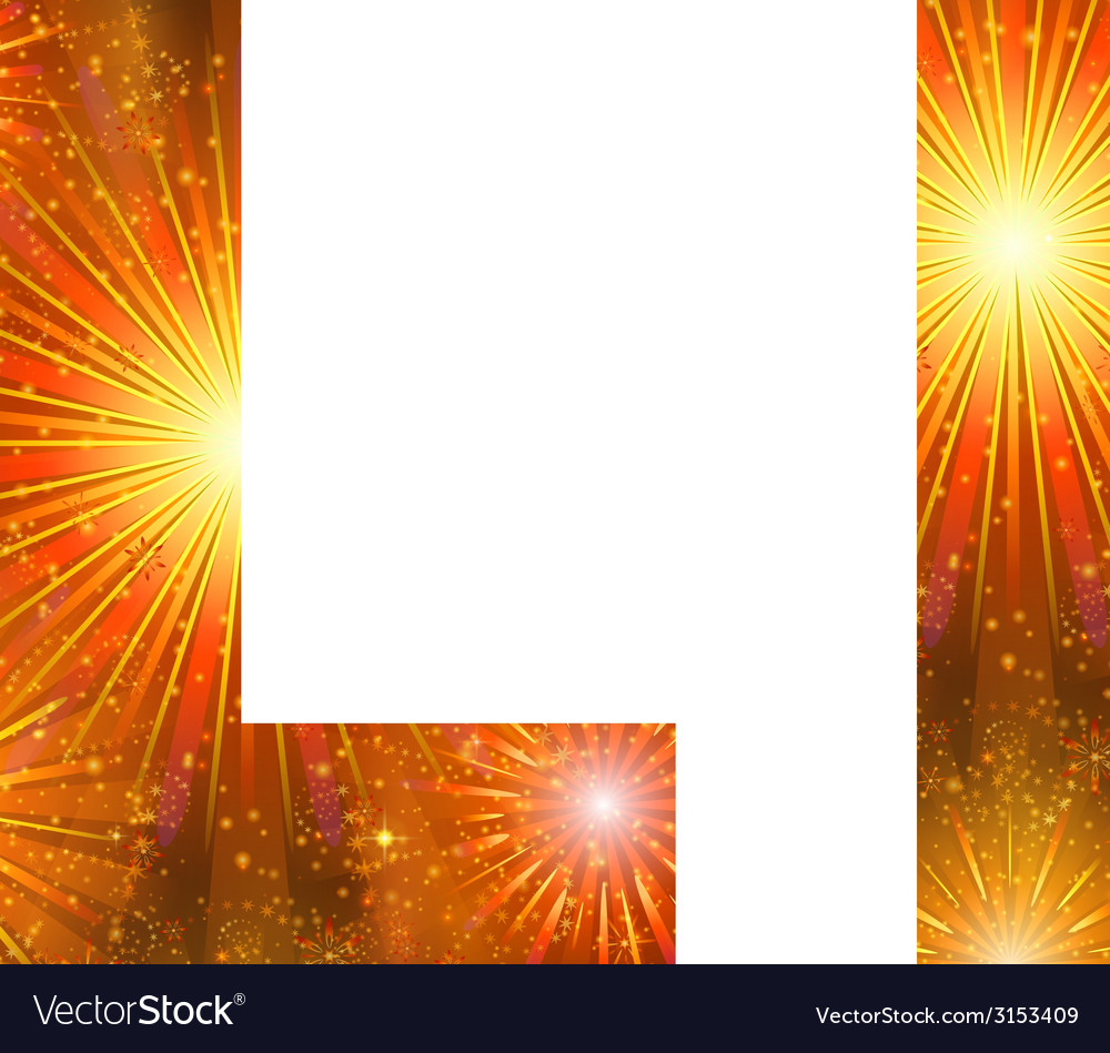 Set of letters firework l vector | Price: 1 Credit (USD $1)