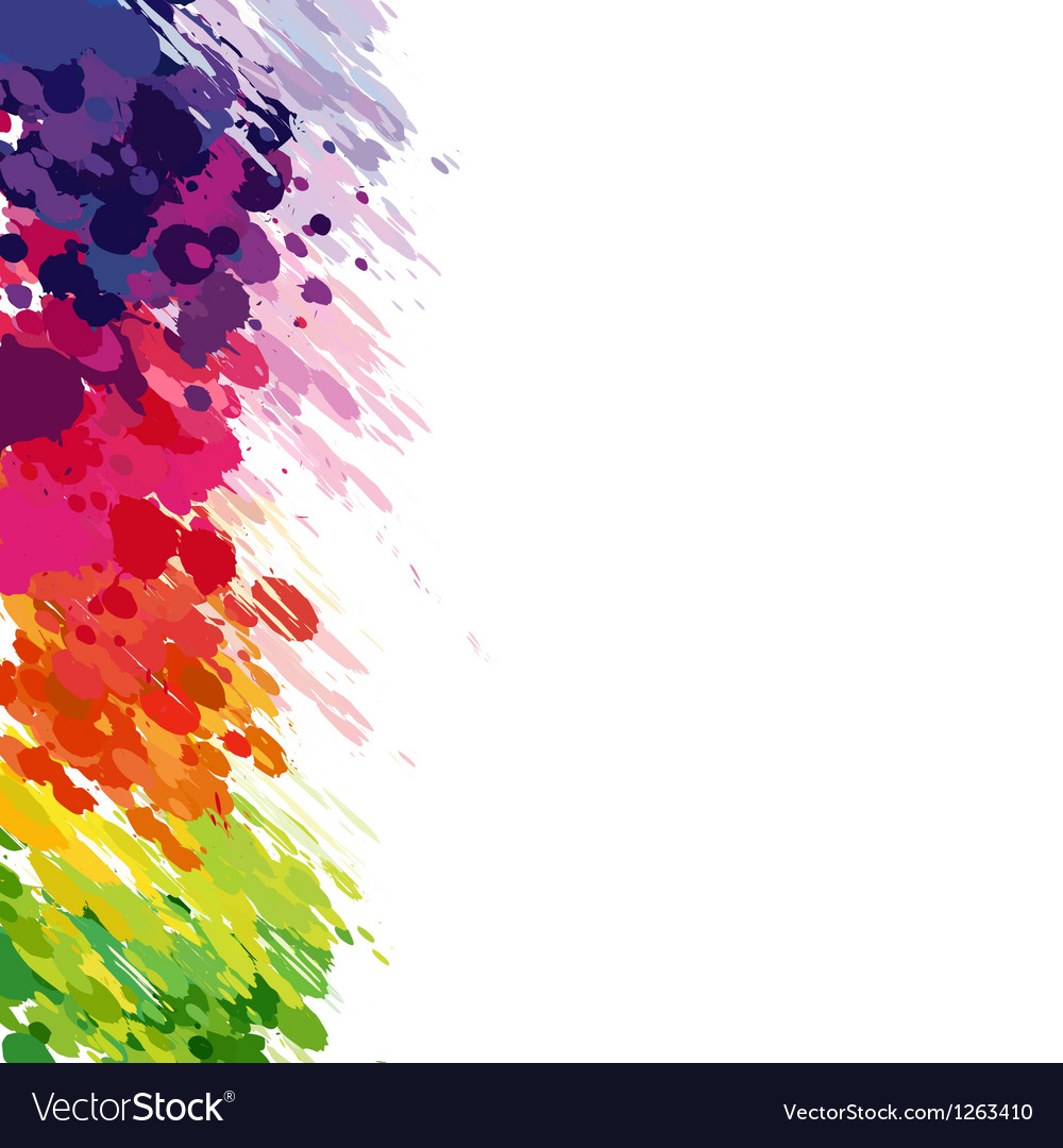 Abstract background of colored splashes blots vector