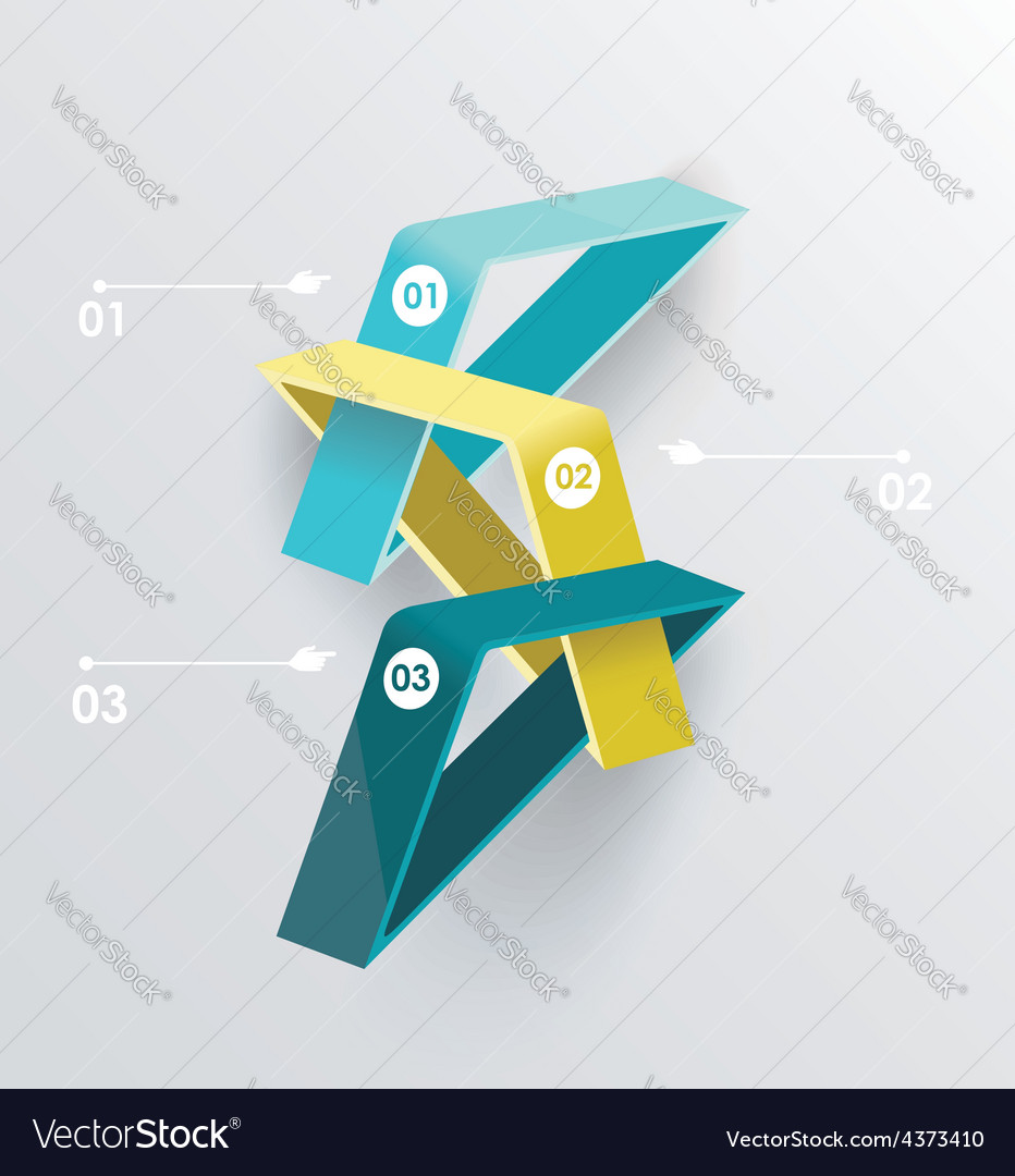 Abstract infographics design with numbered vector | Price: 1 Credit (USD $1)