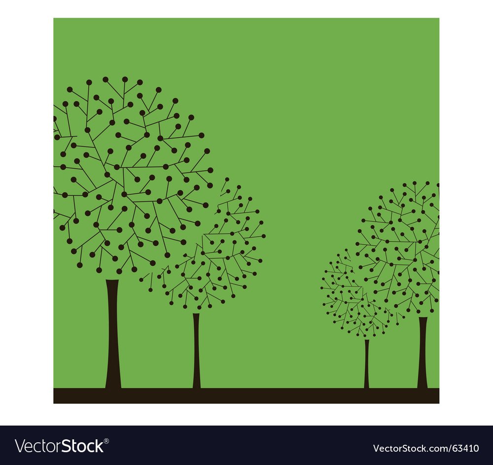 Abstract tree design vector | Price: 1 Credit (USD $1)