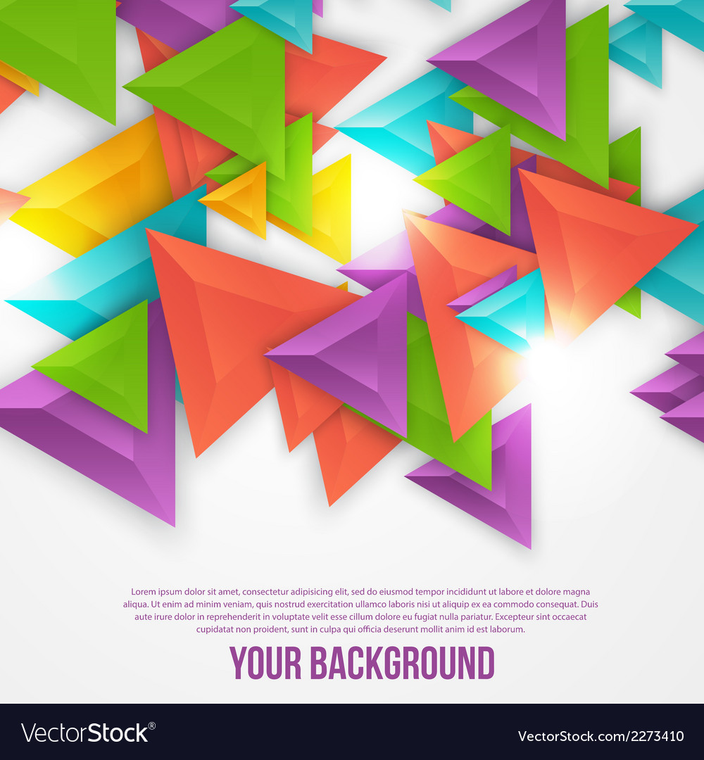 Abstract triangles template object web vector | Price: 1 Credit (USD $1)