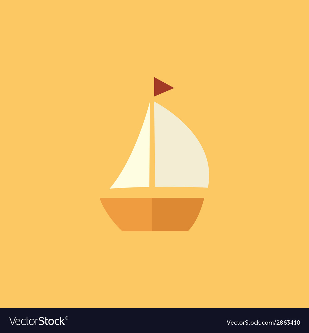 Boat transportation flat icon vector | Price: 1 Credit (USD $1)