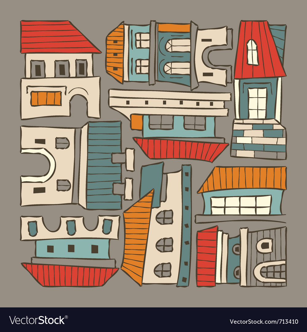 City houses houses vector | Price: 1 Credit (USD $1)