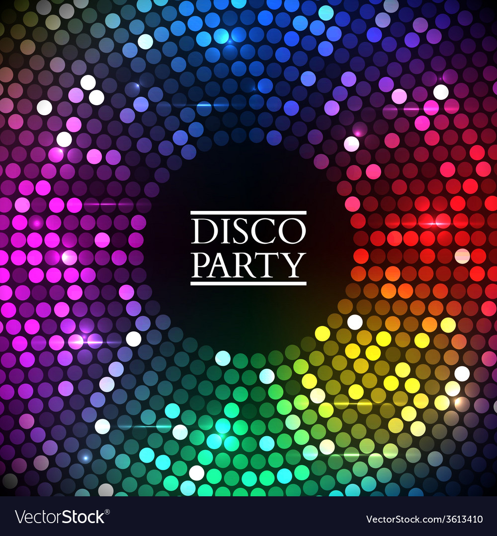 Colorful disco lights vector   Price: 1 Credit (USD $1)