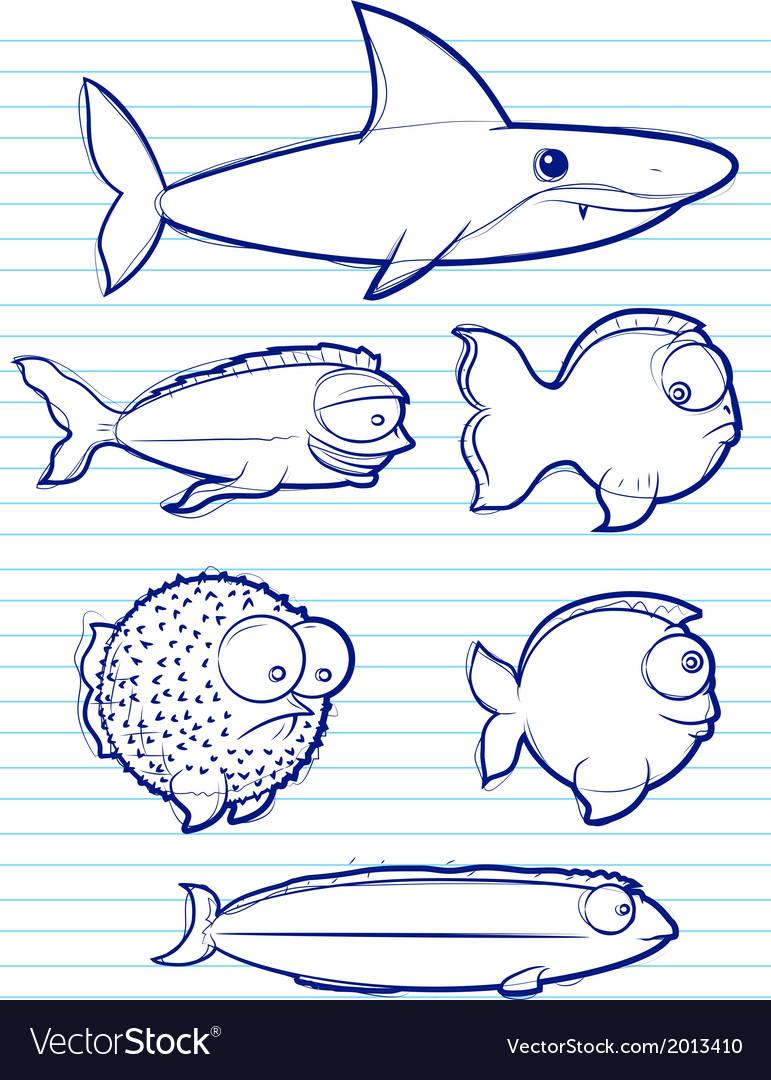 Fish drawn vector | Price: 1 Credit (USD $1)