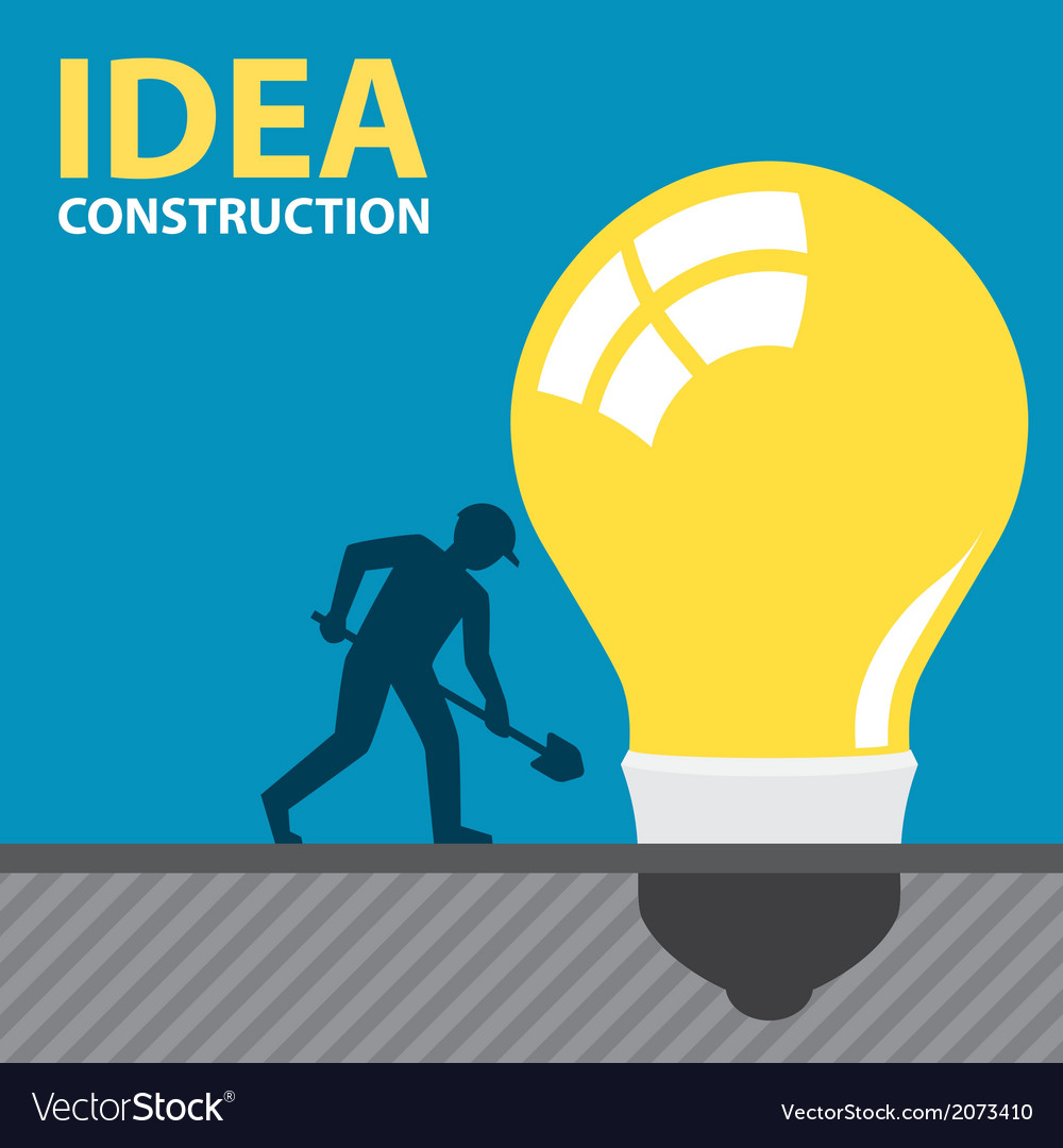 Idea construction vector | Price: 1 Credit (USD $1)
