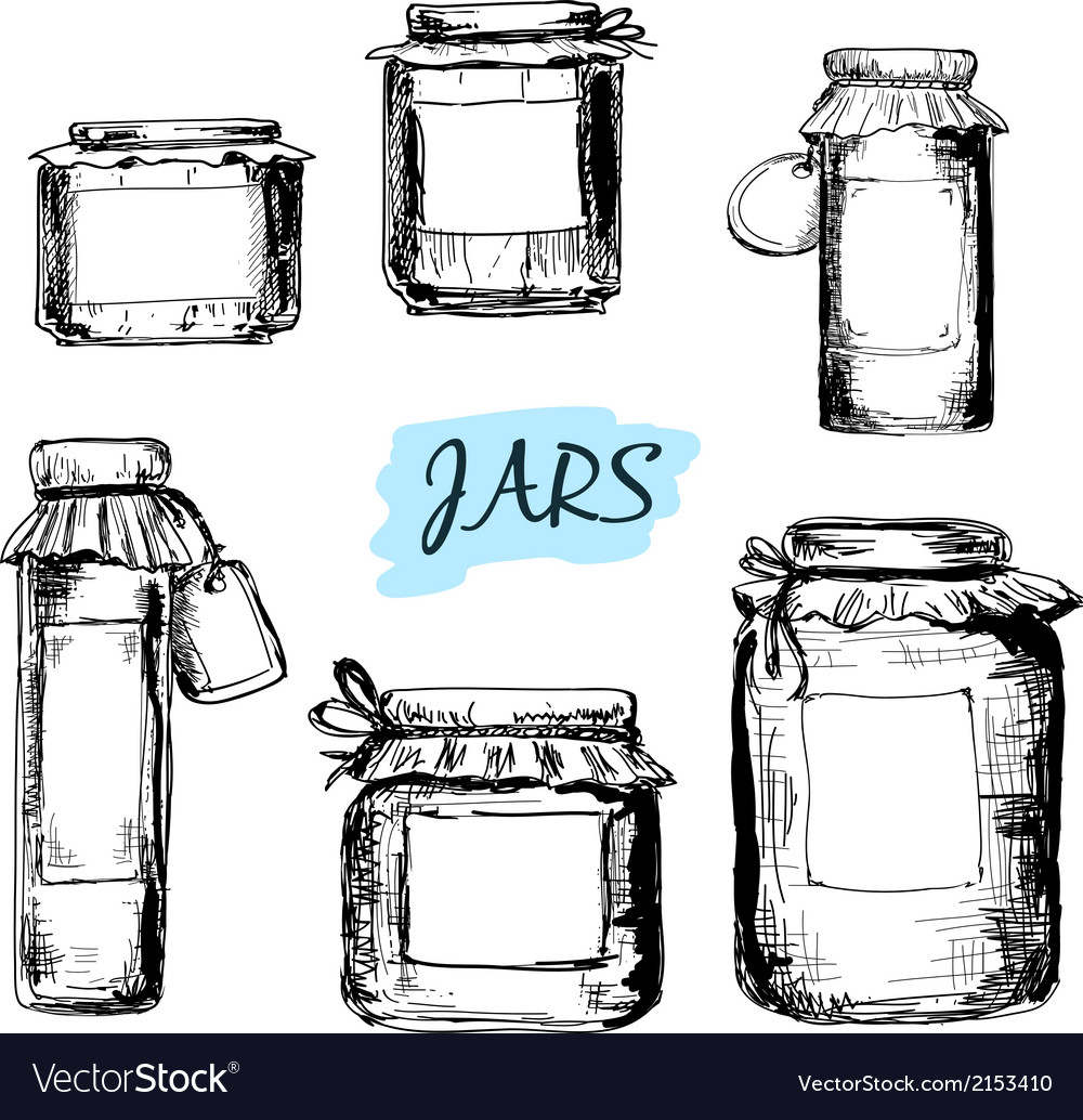 Jars with labels vector | Price: 1 Credit (USD $1)