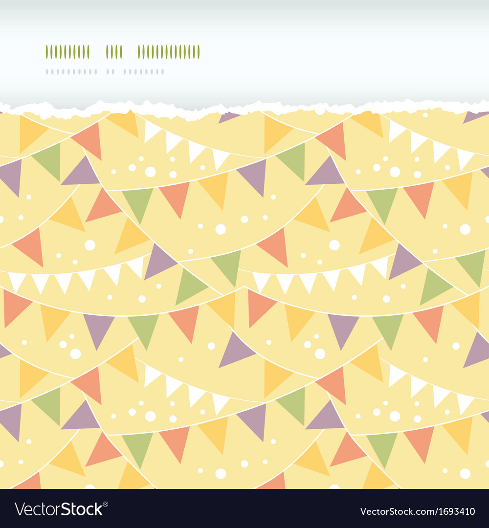 Party decorations bunting horizontal torn seamless vector | Price: 1 Credit (USD $1)
