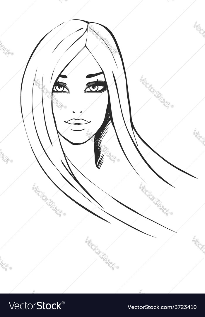Portrait of beautiful fashionable girl vector | Price: 1 Credit (USD $1)
