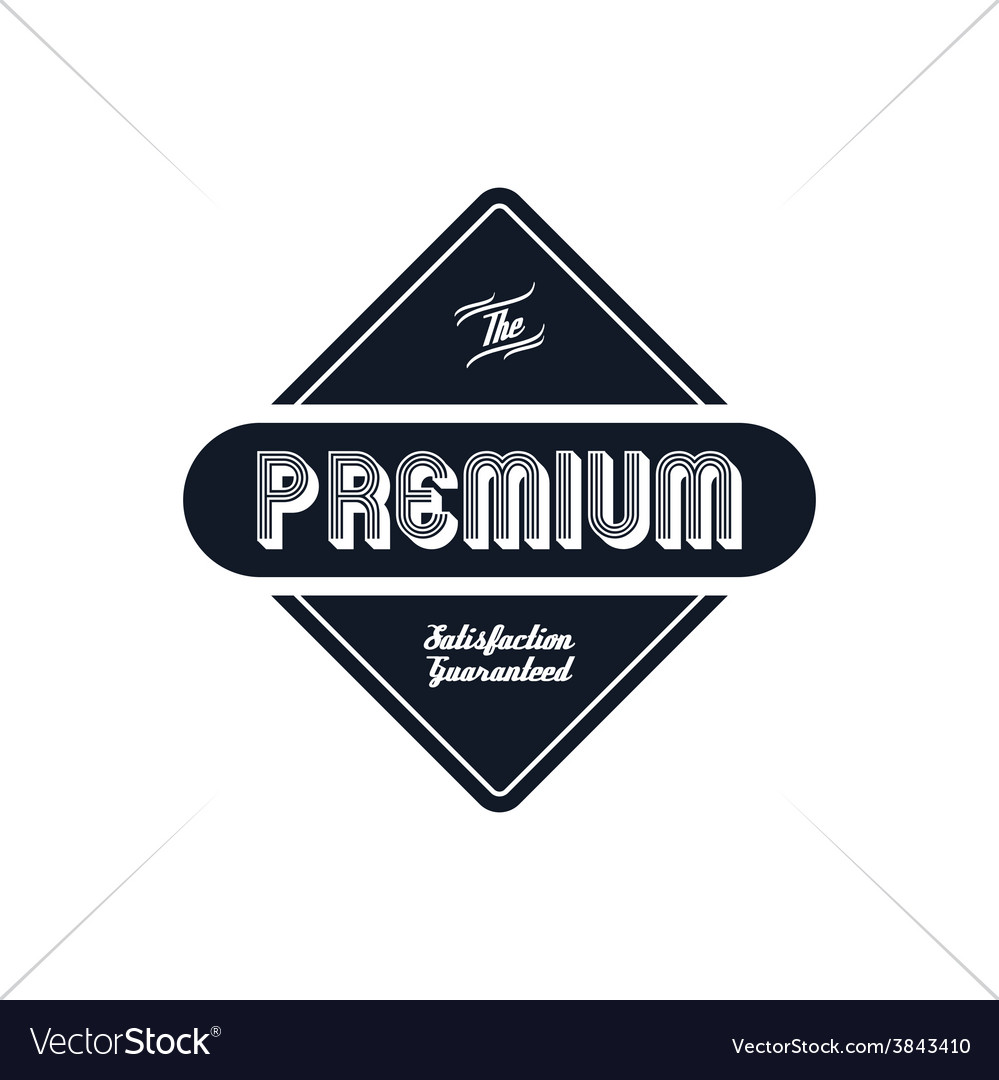 Premium label vintage quality badge theme vector | Price: 1 Credit (USD $1)