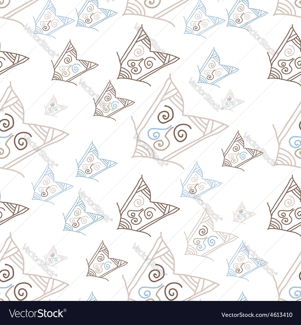 Seamless pattern with hand-drawn arrows vector | Price: 1 Credit (USD $1)