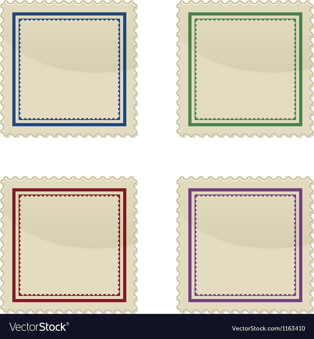 Set of stamp vector | Price: 1 Credit (USD $1)