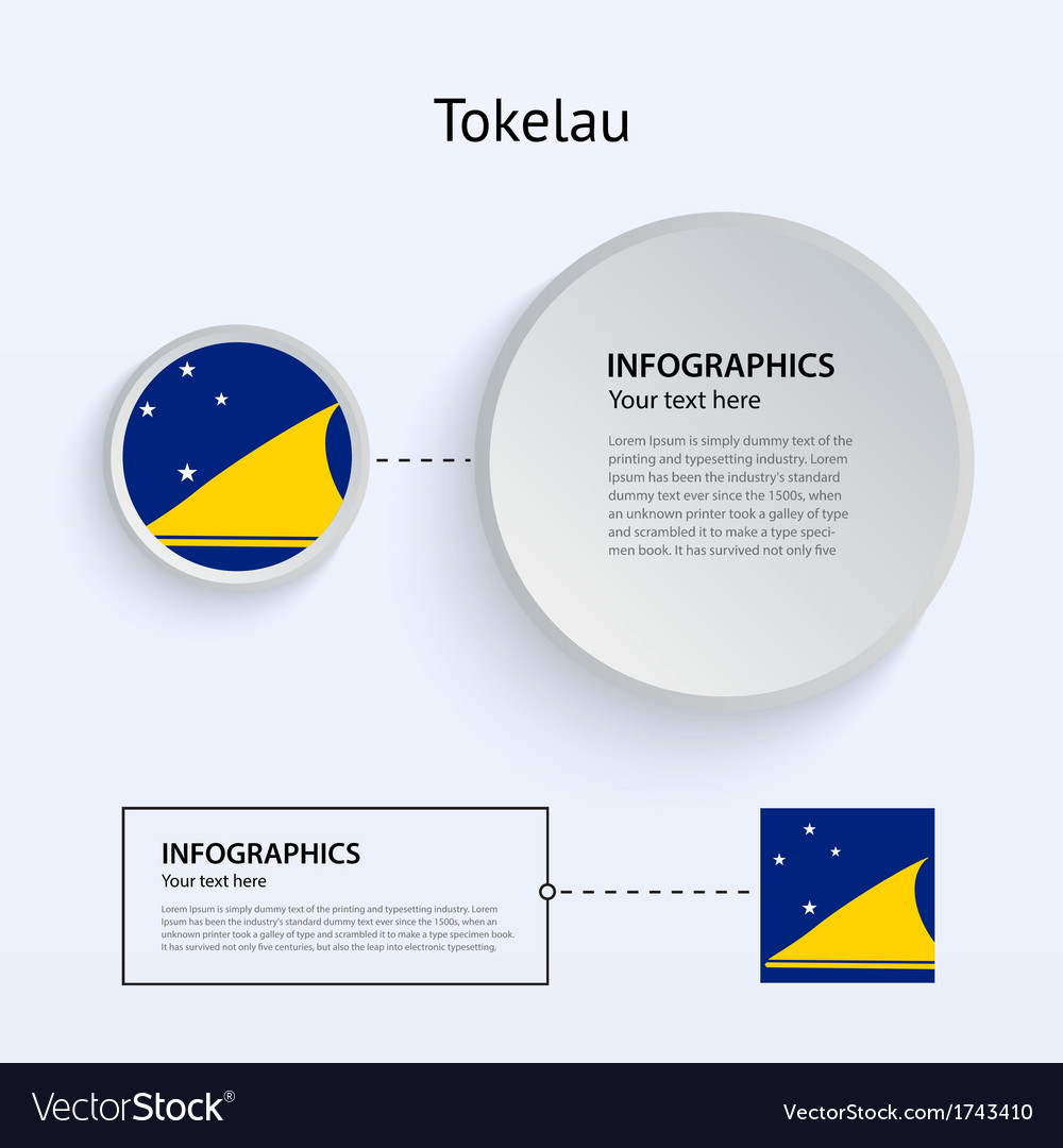 Tokelau country set of banners vector | Price: 1 Credit (USD $1)