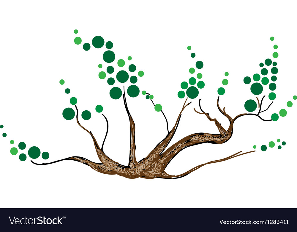 Abstract of isometric green tree and plant vector | Price: 1 Credit (USD $1)