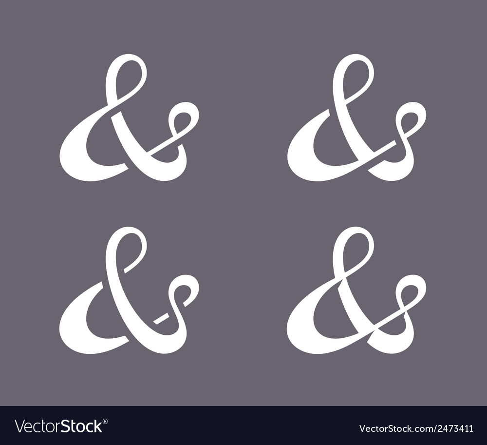 Ampersand collection vector   Price: 1 Credit (USD $1)