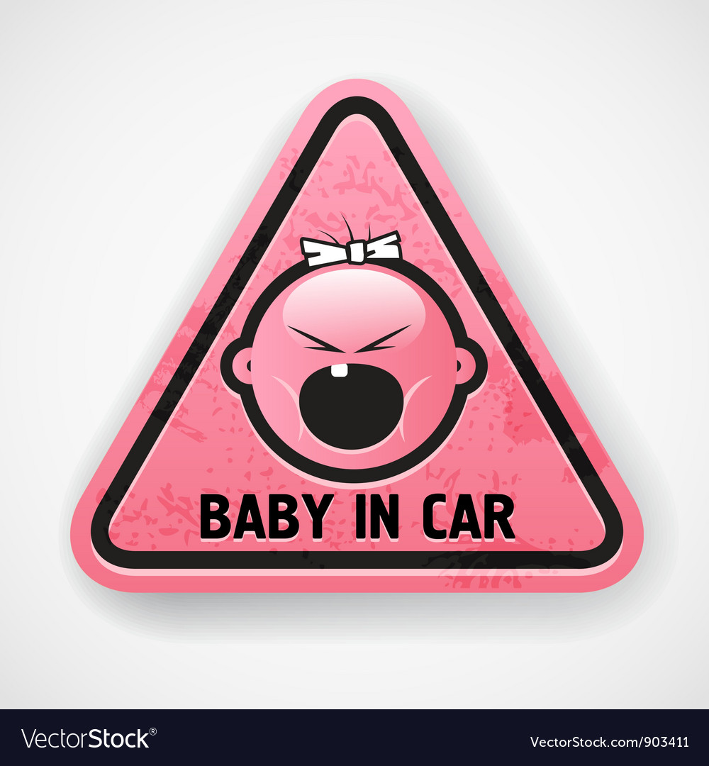 Baby in car vector | Price: 1 Credit (USD $1)