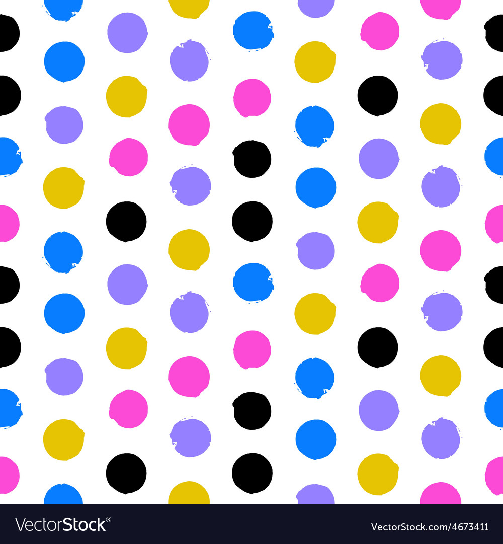 Colorful polka dots vector | Price: 1 Credit (USD $1)