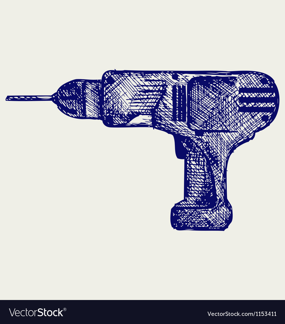 Cordless drill vector   Price: 1 Credit (USD $1)