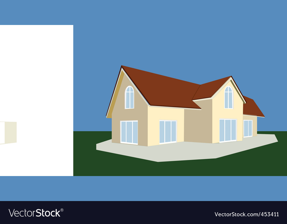Cottage vector | Price: 1 Credit (USD $1)