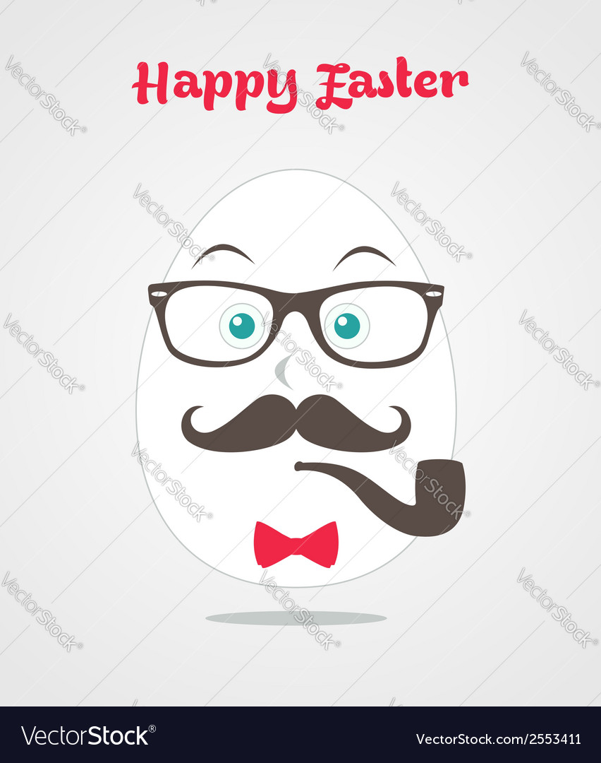 Hipster easter design vector | Price: 1 Credit (USD $1)