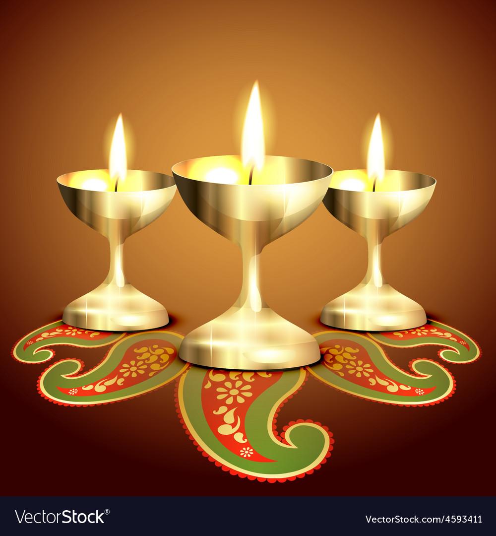 Indian worship lamp vector | Price: 1 Credit (USD $1)