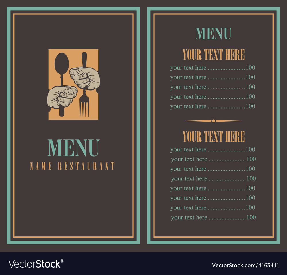 Menu vector | Price: 1 Credit (USD $1)