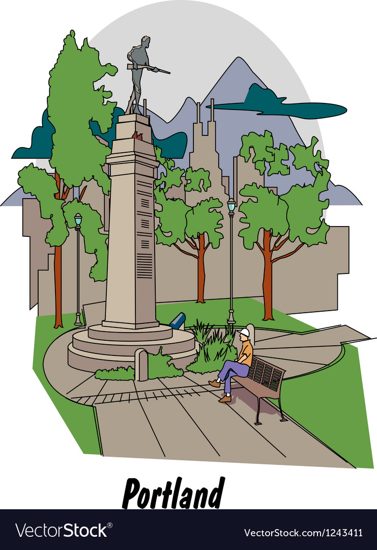 Portland oregon vector | Price: 1 Credit (USD $1)