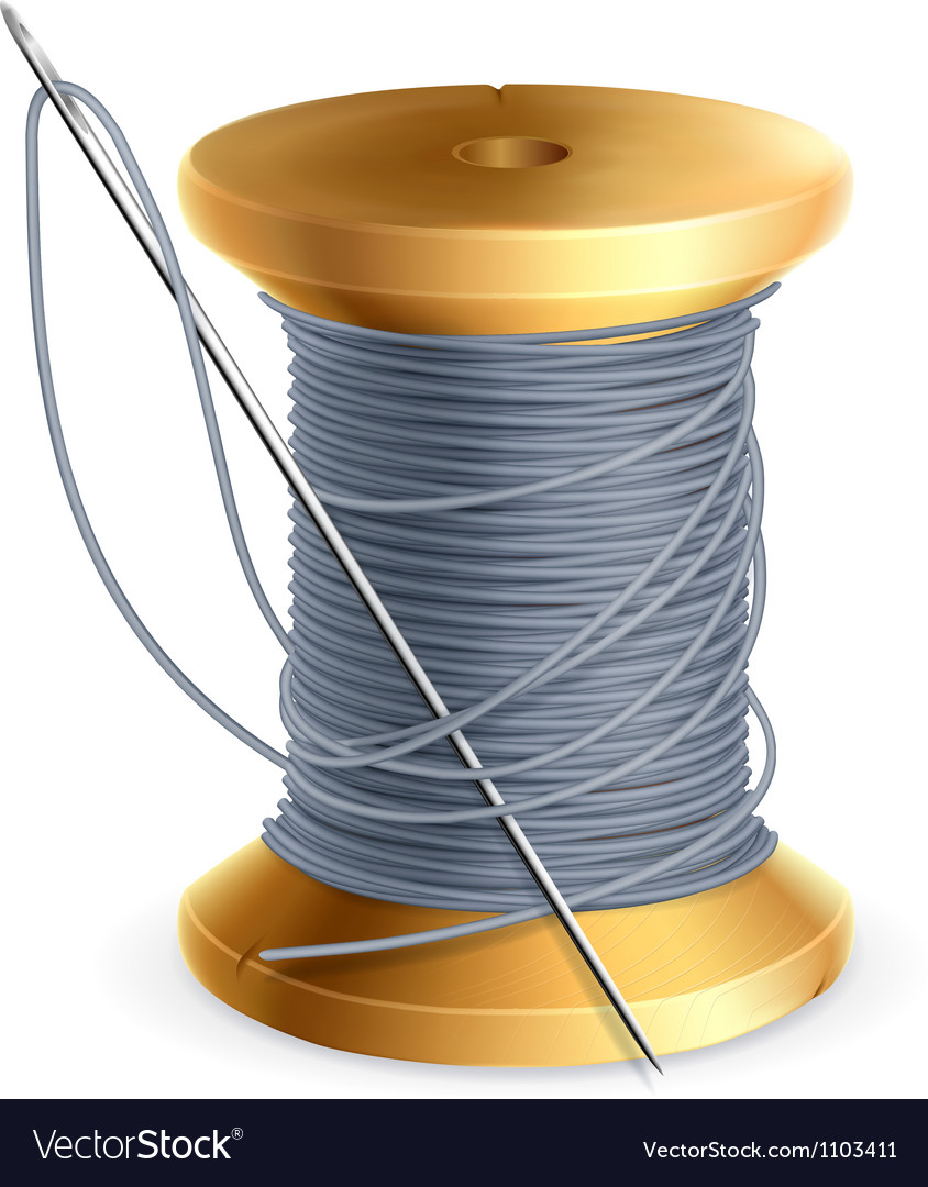 Spool of thread vector | Price: 1 Credit (USD $1)