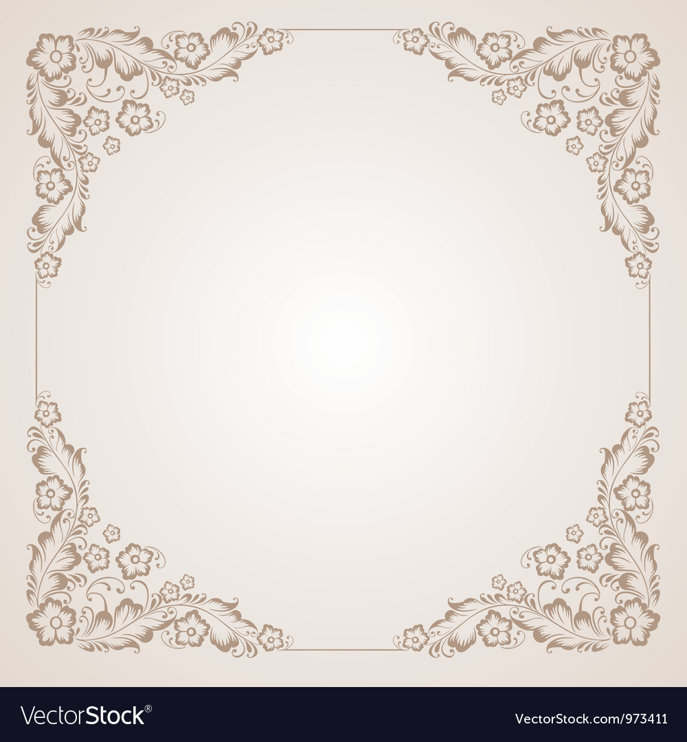 Vintage radial ornament in the square vector | Price: 1 Credit (USD $1)