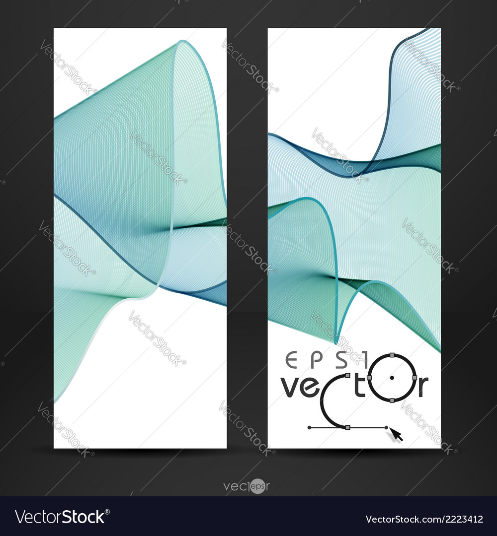 Abstract waves design vector | Price: 1 Credit (USD $1)