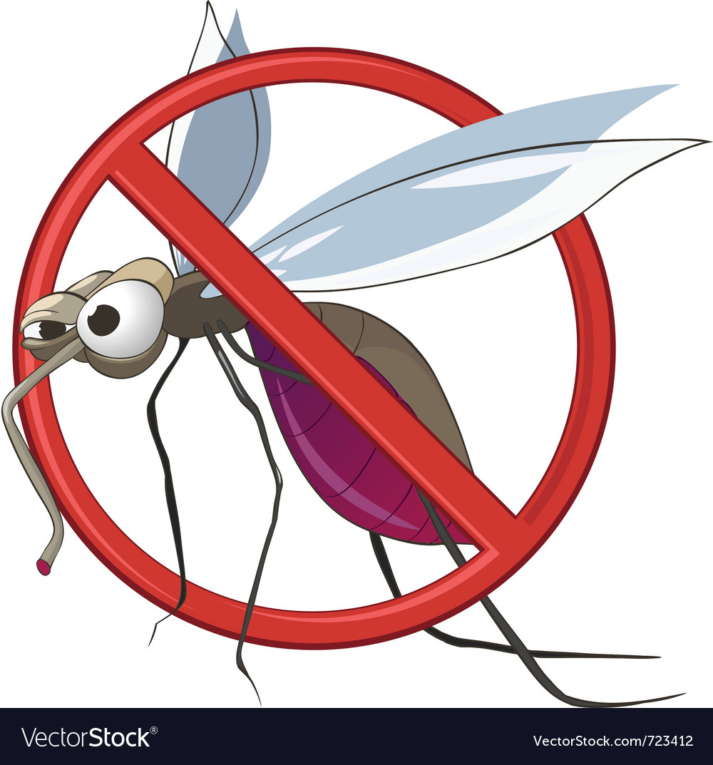 Cartoon stop mosquito vector | Price: 1 Credit (USD $1)
