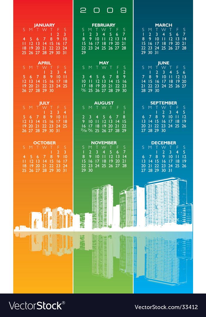 City calendar vector   Price: 1 Credit (USD $1)