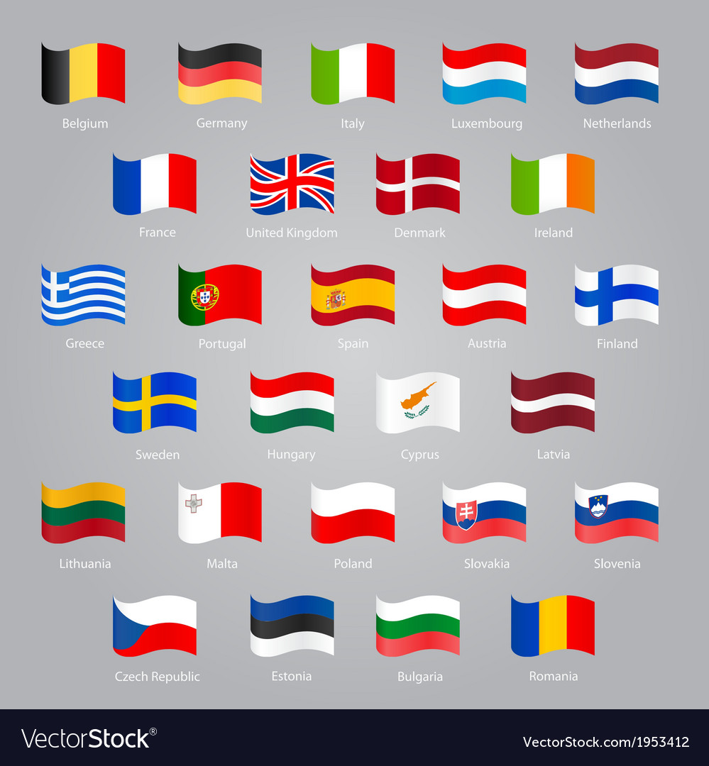 Flags of eu countries vector | Price: 1 Credit (USD $1)
