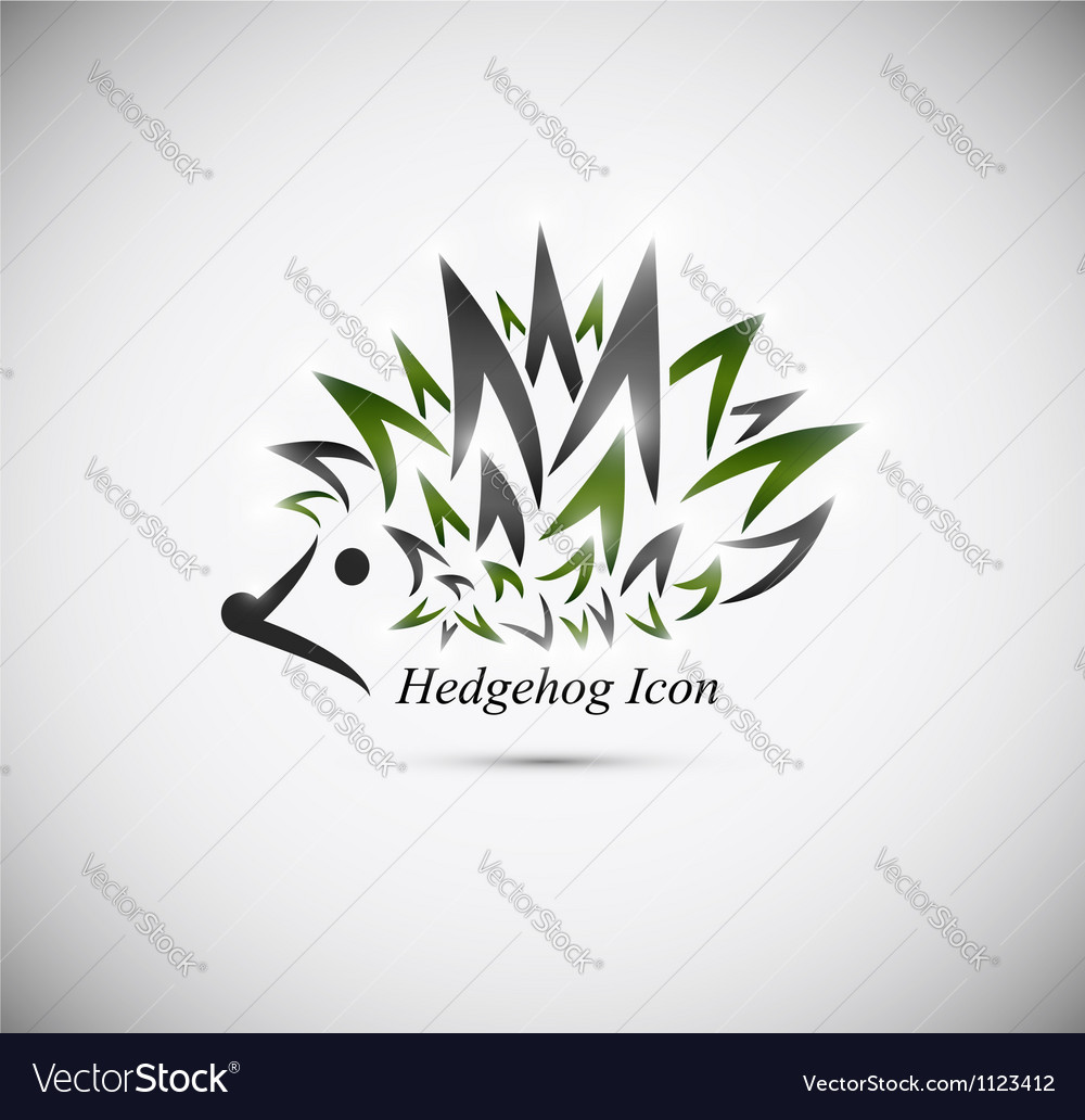 Hedgehog icon vector | Price: 1 Credit (USD $1)