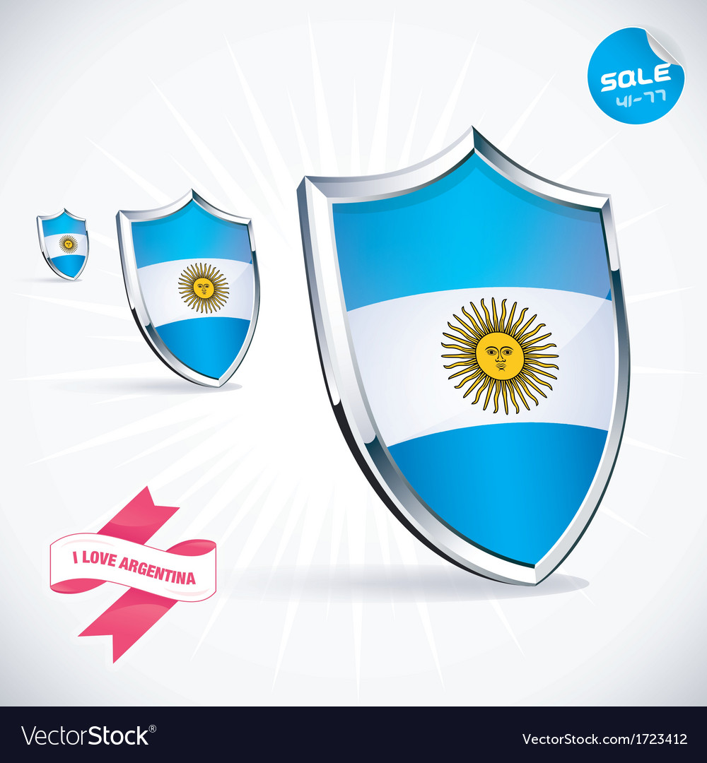 I love argentina flag vector | Price: 1 Credit (USD $1)
