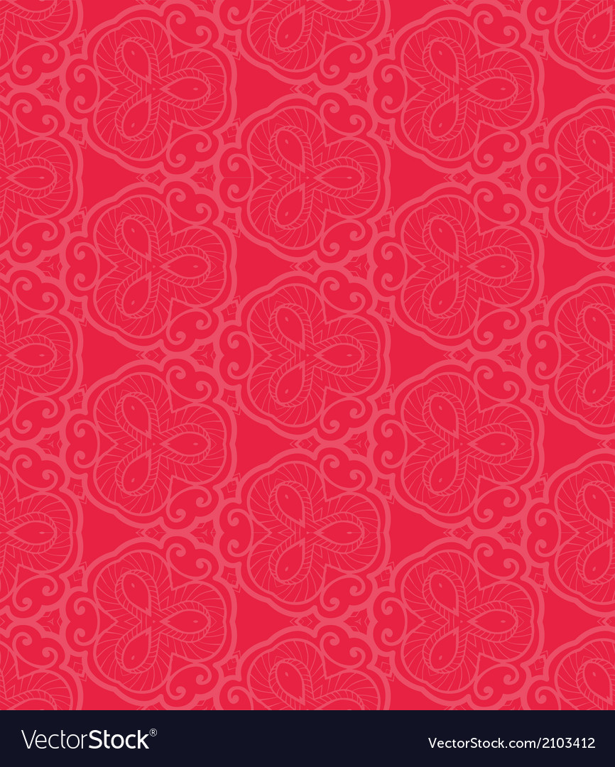 Red lace seamless pattern vector | Price: 1 Credit (USD $1)