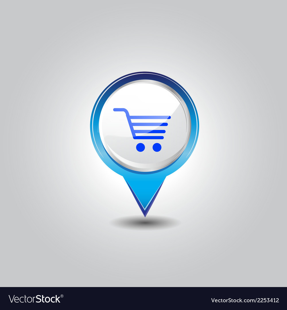 Shopping pins vector | Price: 1 Credit (USD $1)