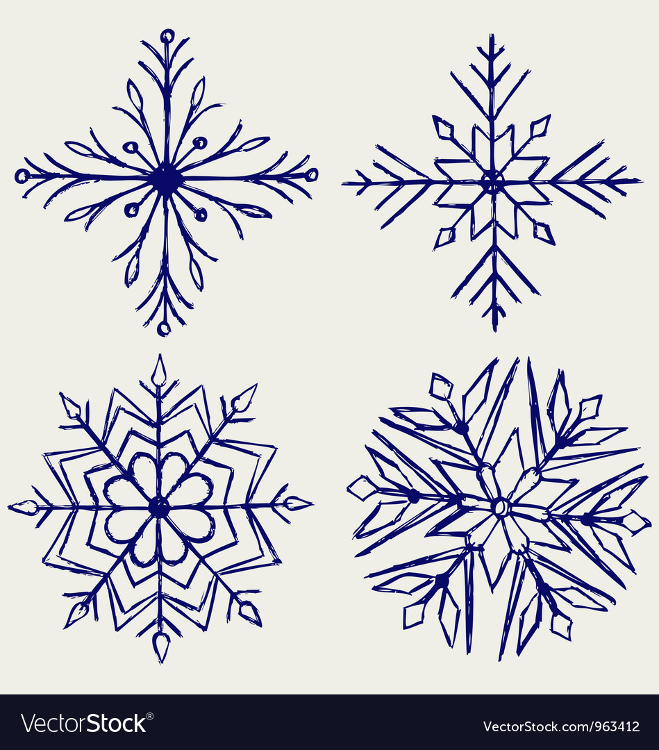 Snowflake winter vector | Price: 1 Credit (USD $1)