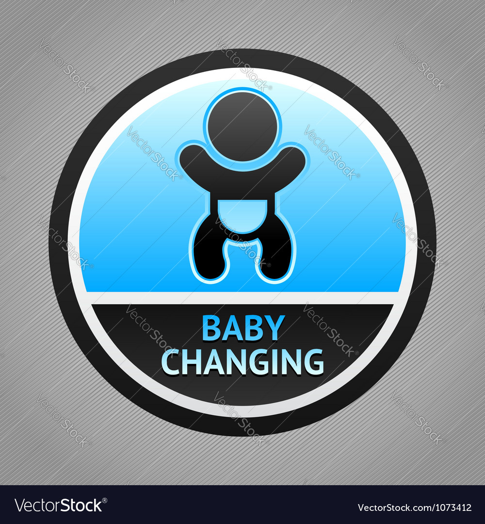 Symbol baby changing vector | Price: 1 Credit (USD $1)