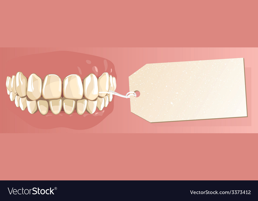 Teeth and label vector | Price: 1 Credit (USD $1)