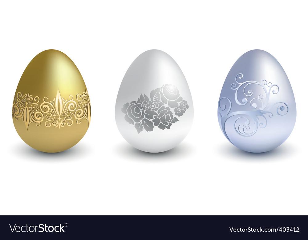 Three metal eggs vector | Price: 1 Credit (USD $1)