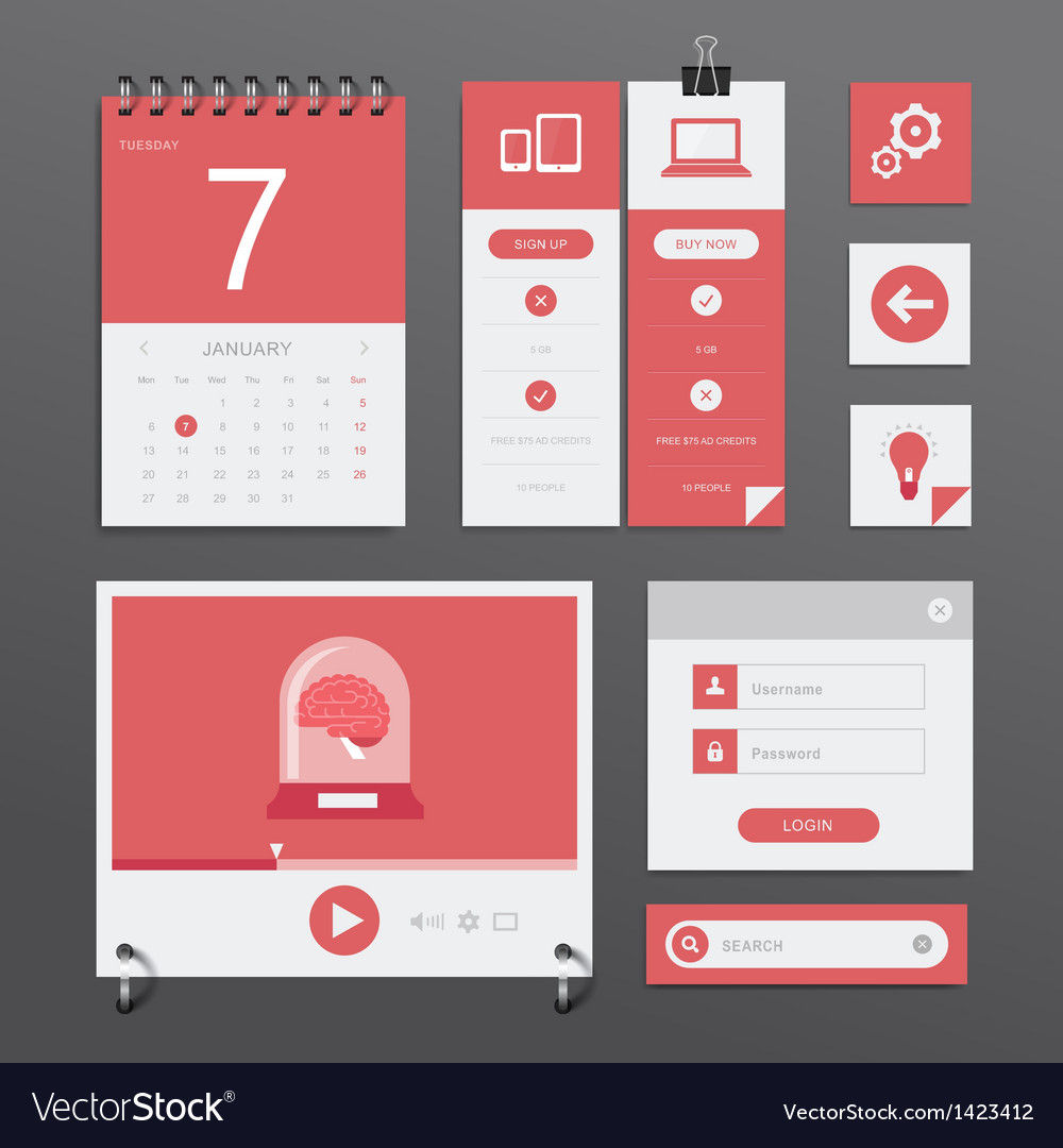 Ui set vector | Price: 1 Credit (USD $1)