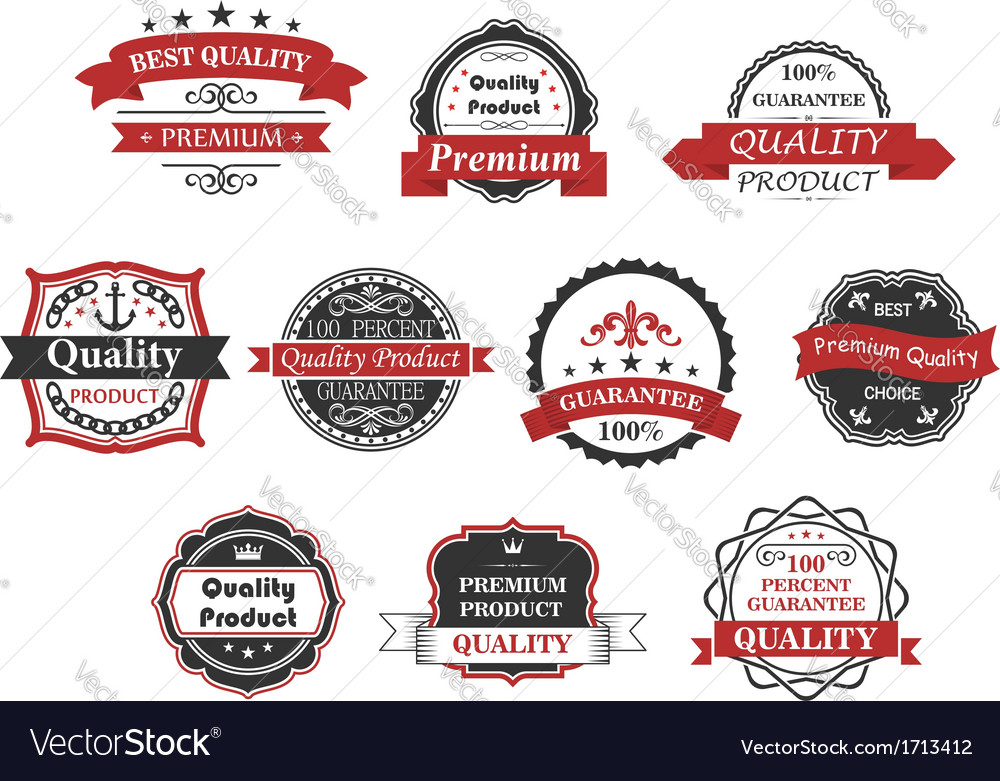 Vintage labels and banners set vector | Price: 1 Credit (USD $1)